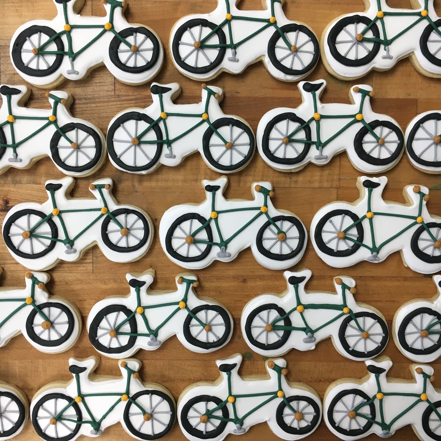 cyclists themed cookies