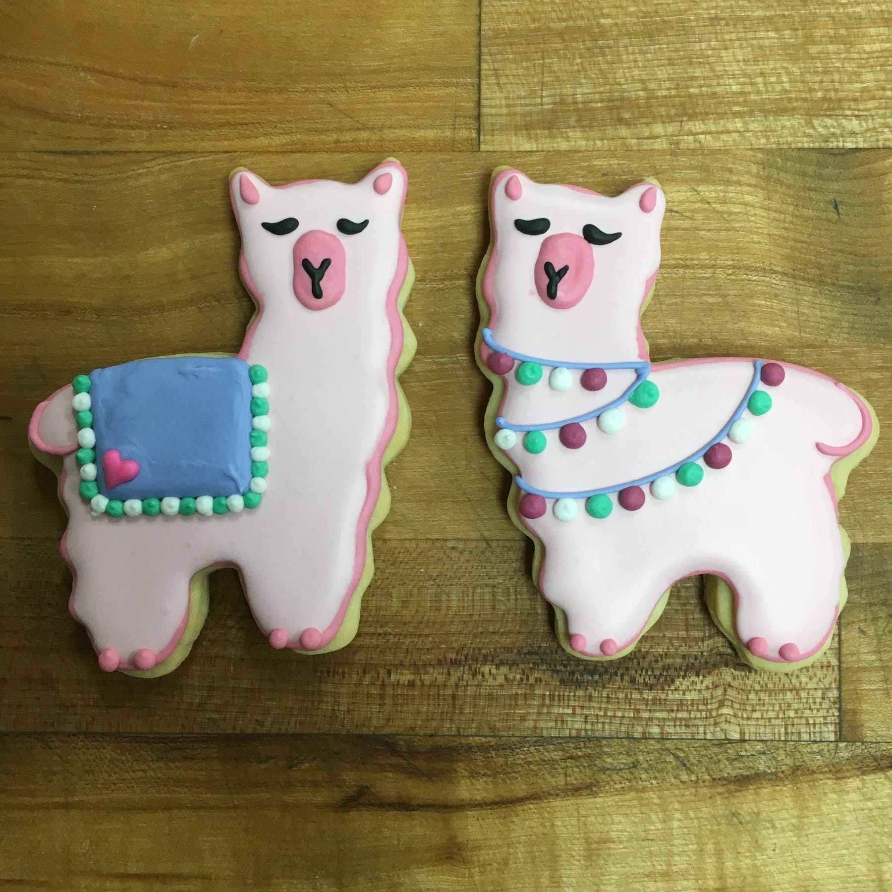 llama-shaped cookies