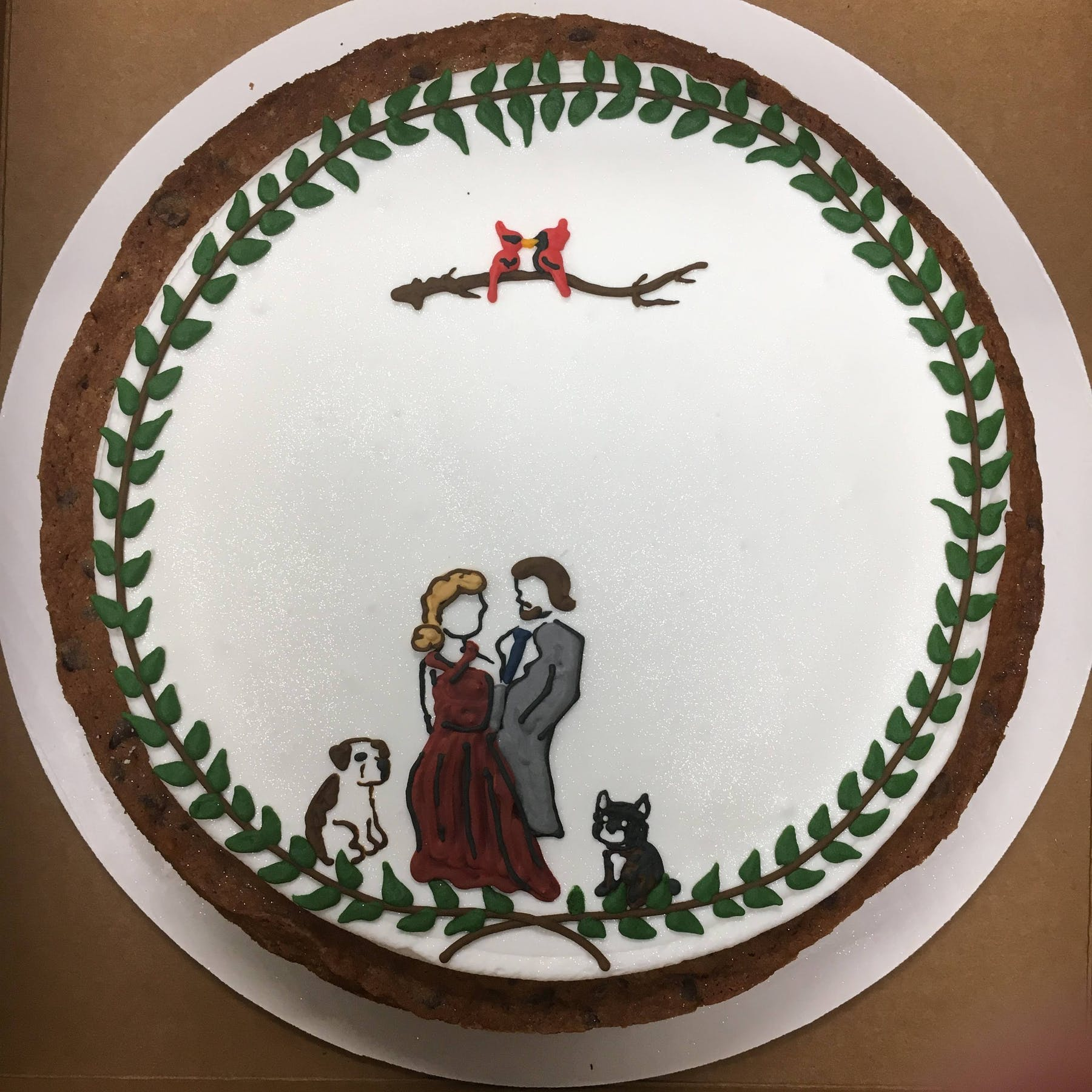 Couple and Pets cake