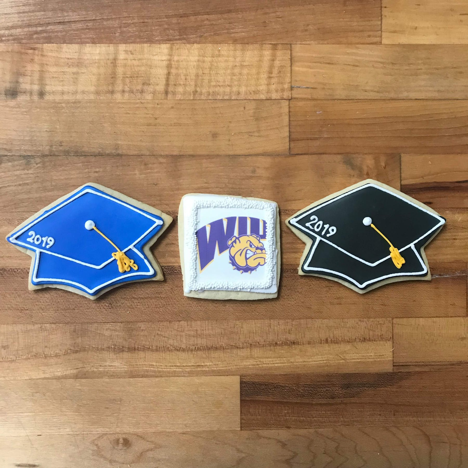graduation themed cookies