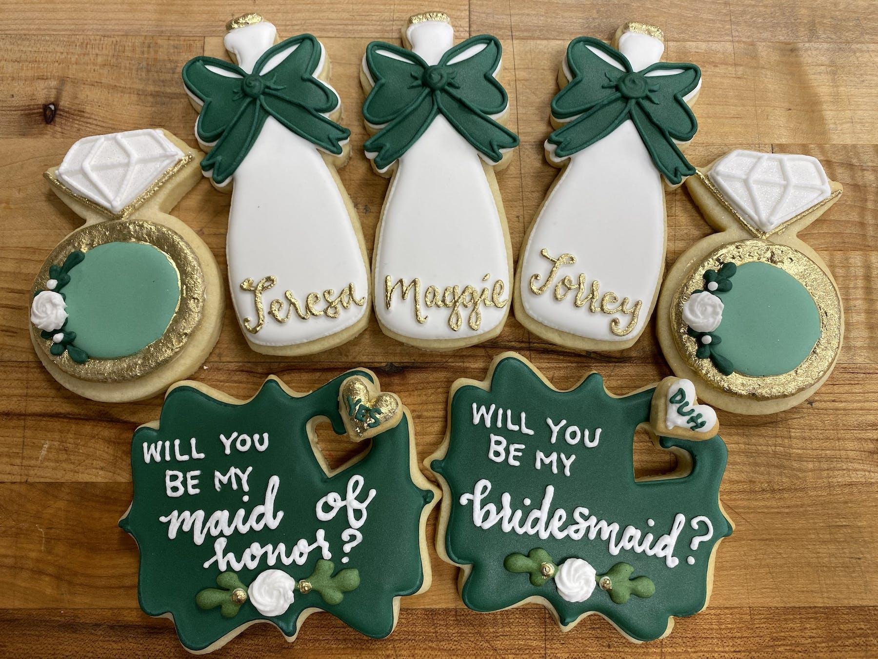 decorated cookies bridal
