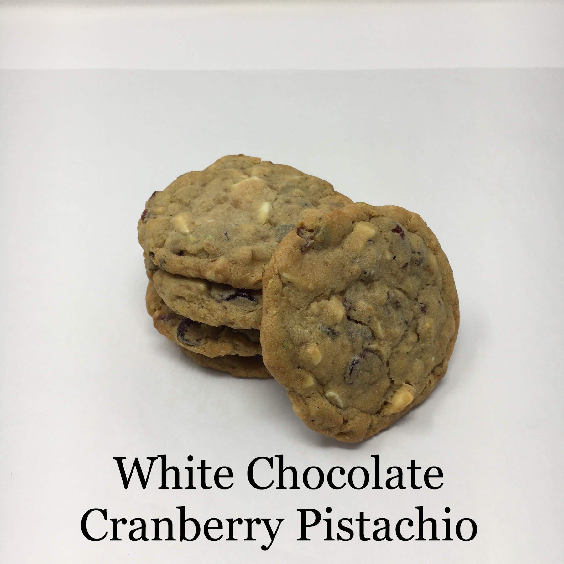 white chocolate cranberry pistachio