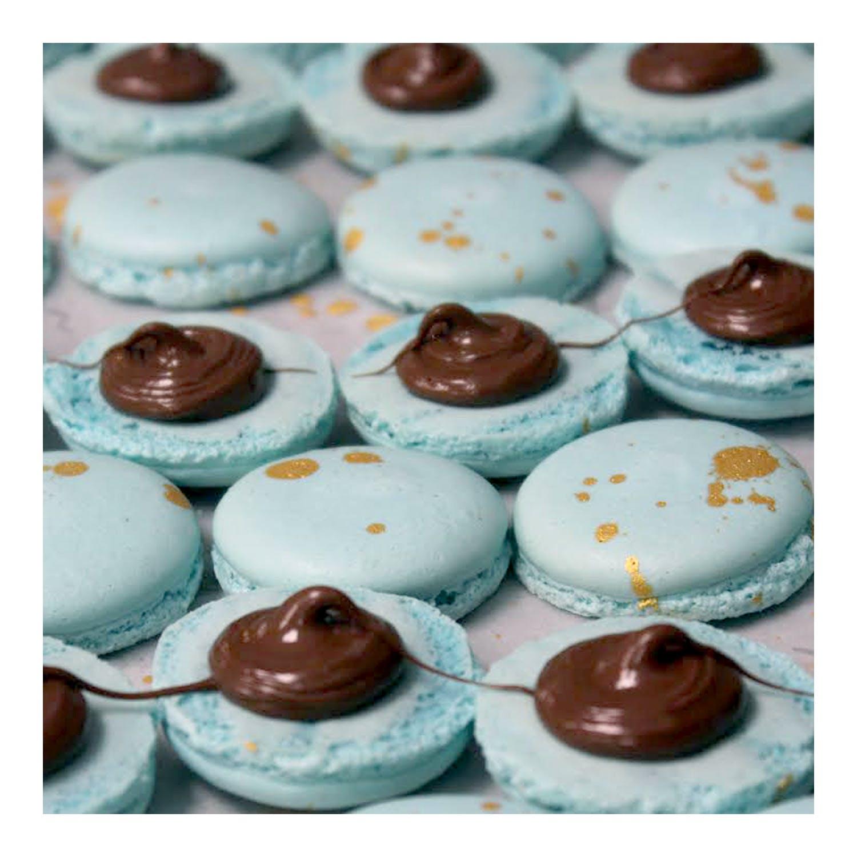 Blue Macaron close up