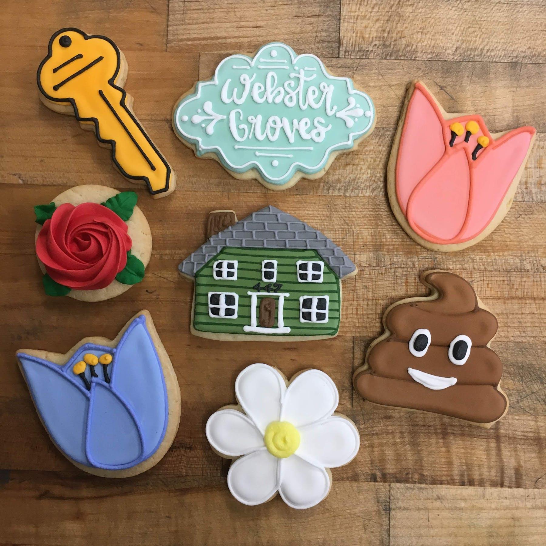 emoji themed cookies