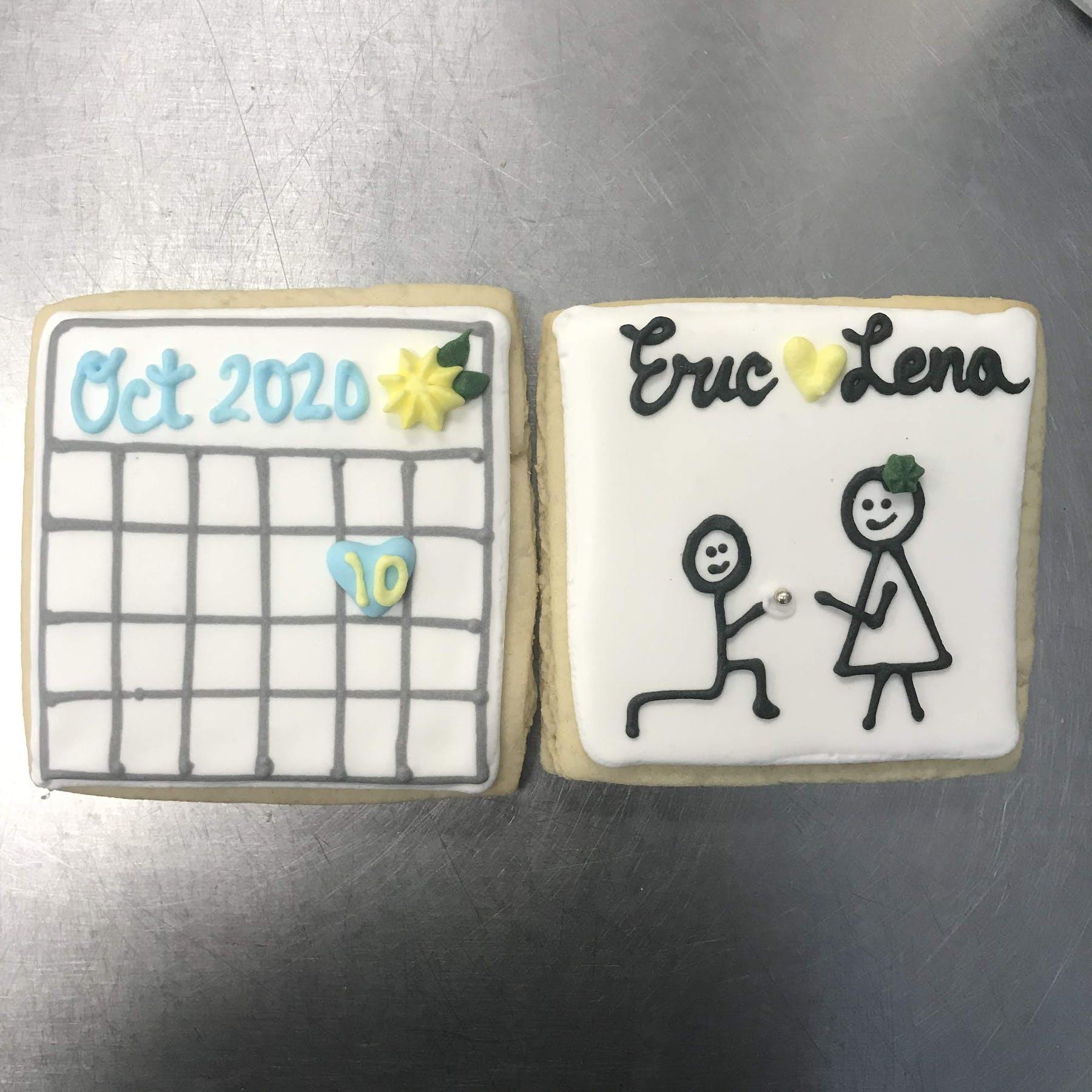 calendar chaped cookies