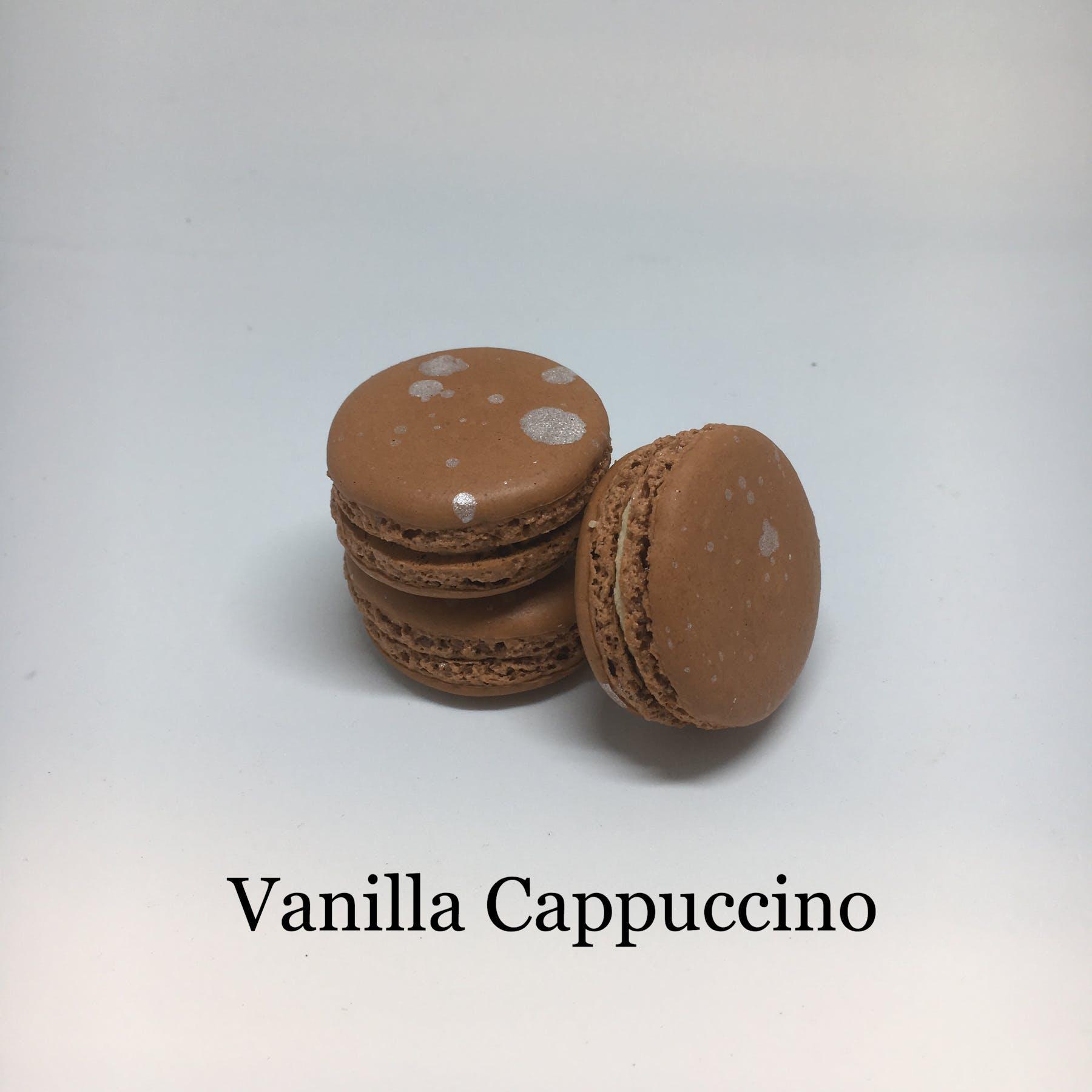 vanilla cappuccino flavored macarons