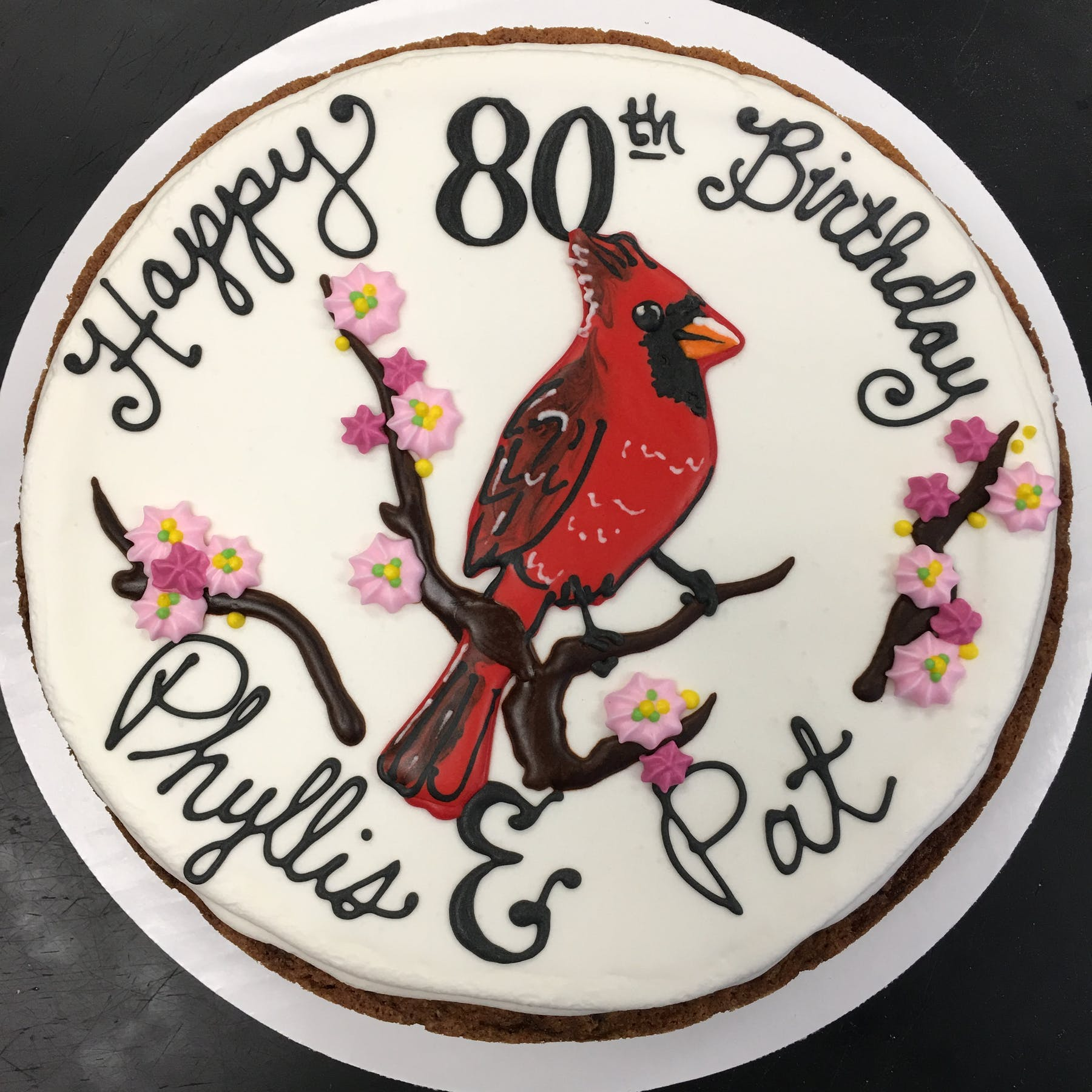HB Cardinal Cake