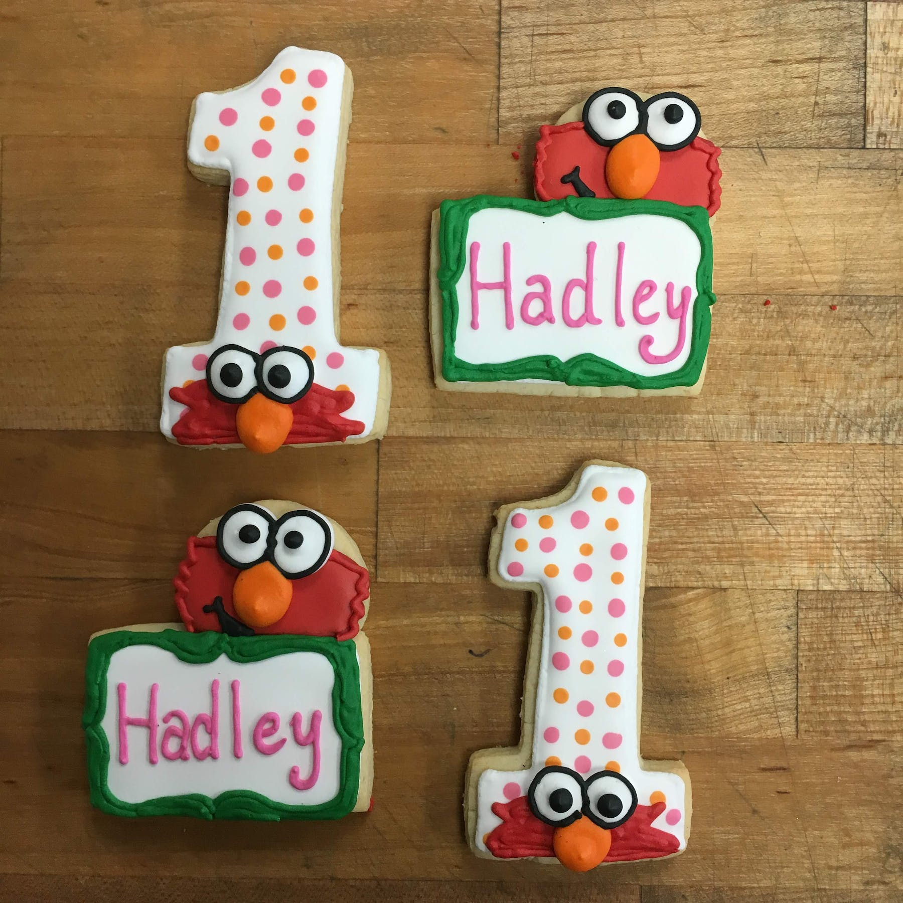 Elmo themed cookies