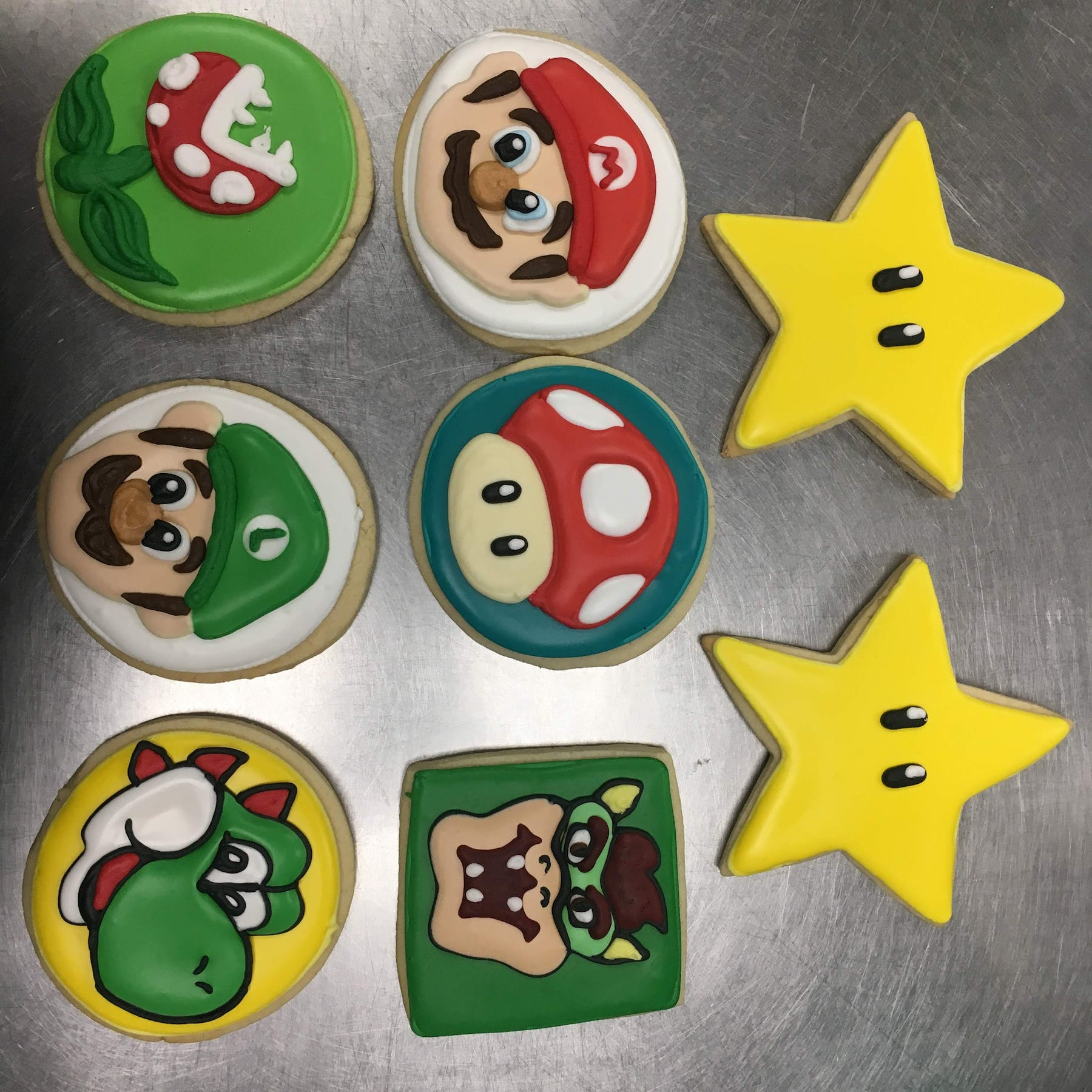 Super Mario themed cookies