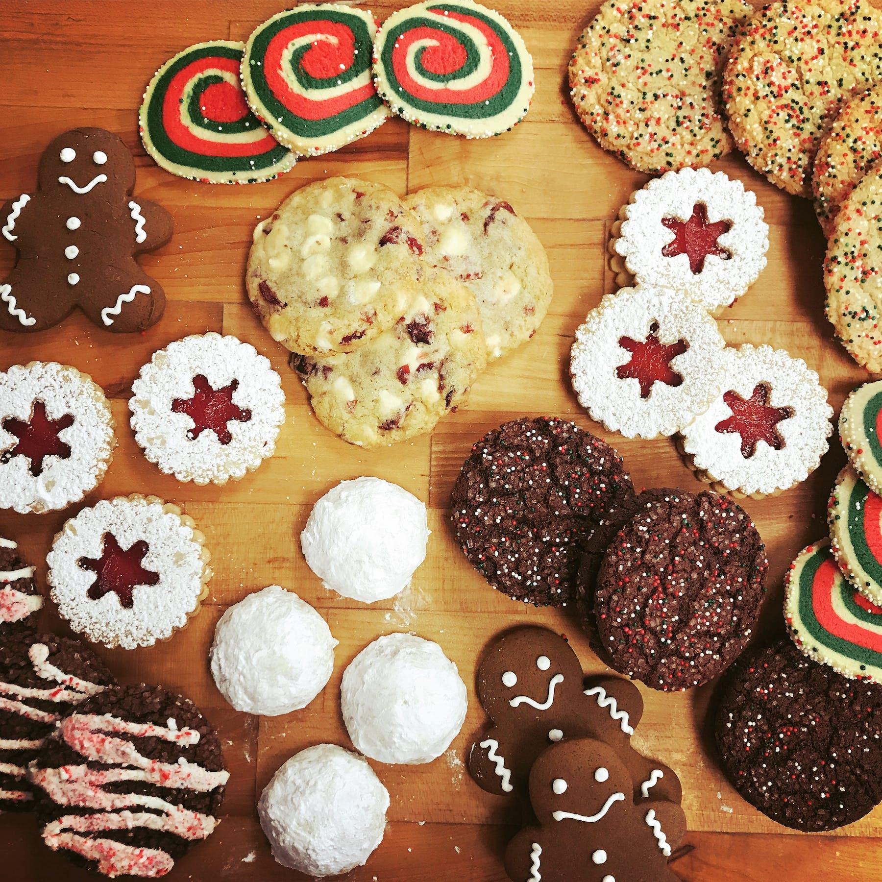 Christmas cookie platter