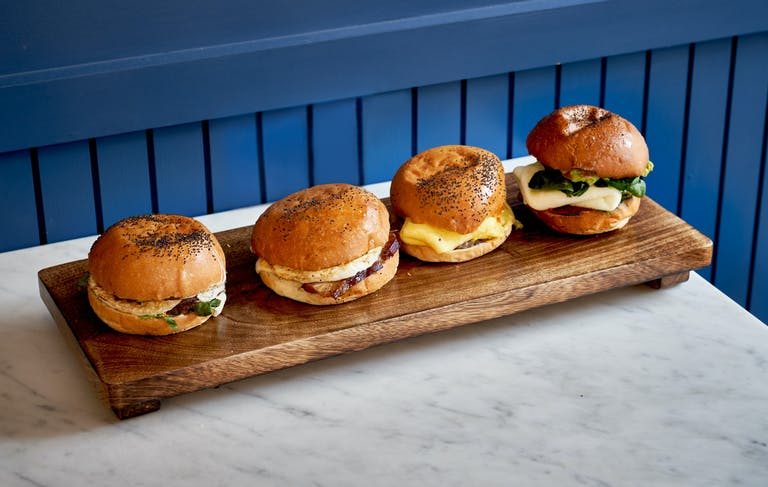 Breakfast sandwiches at Daily Provisions