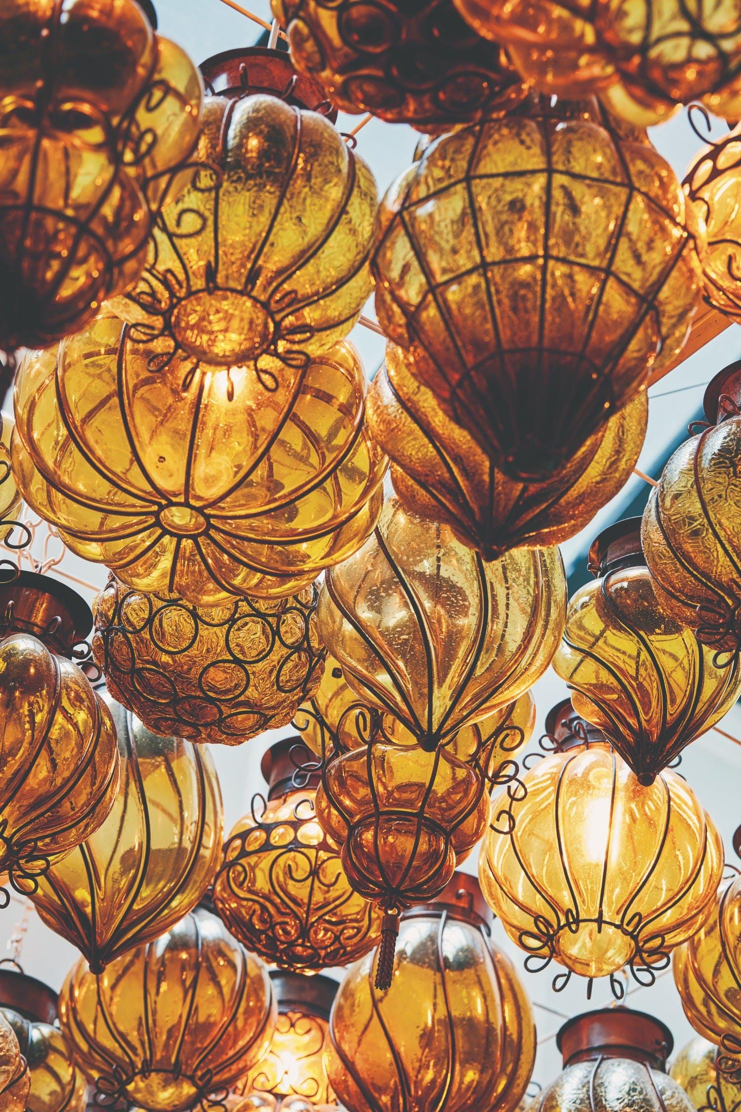 ornamental amber lanters