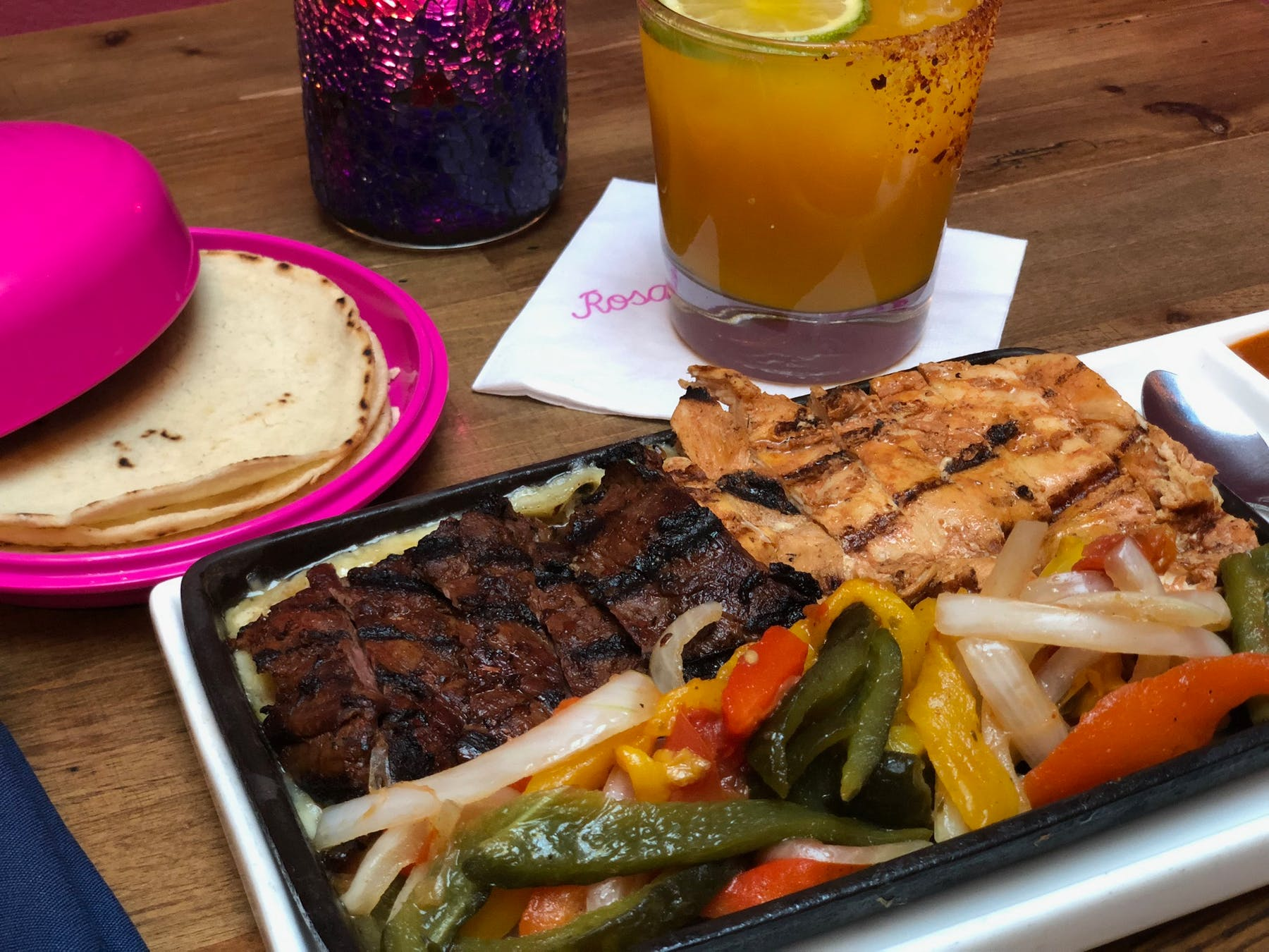 Fajita plate on the menus