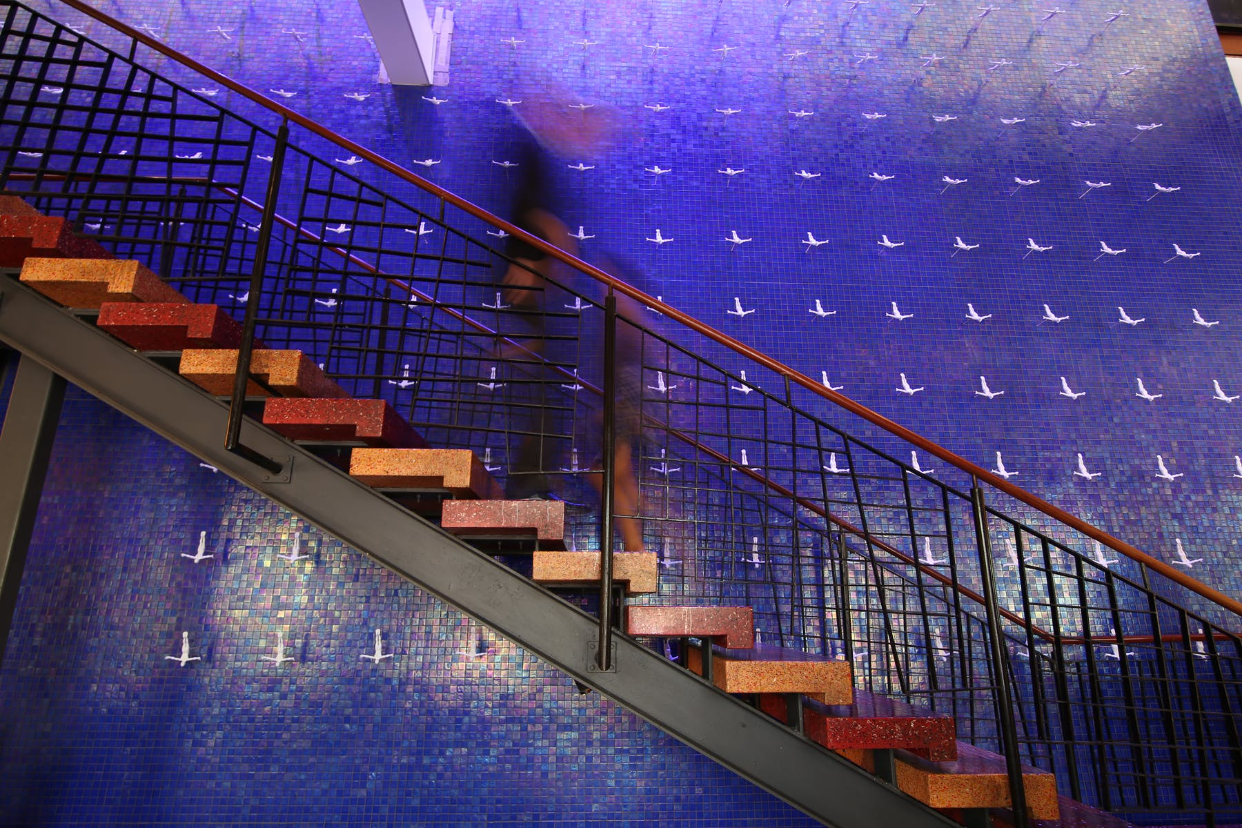 stairway at Rosa Mexicano by Lincoln Center, NY
