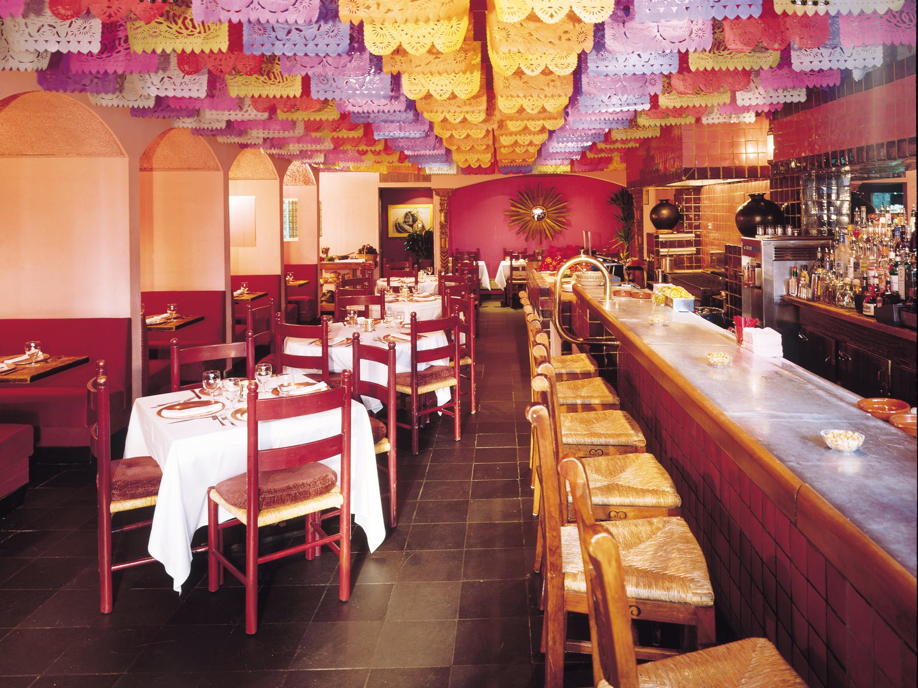 inside Rosa Mexicano in First Avenue, NY