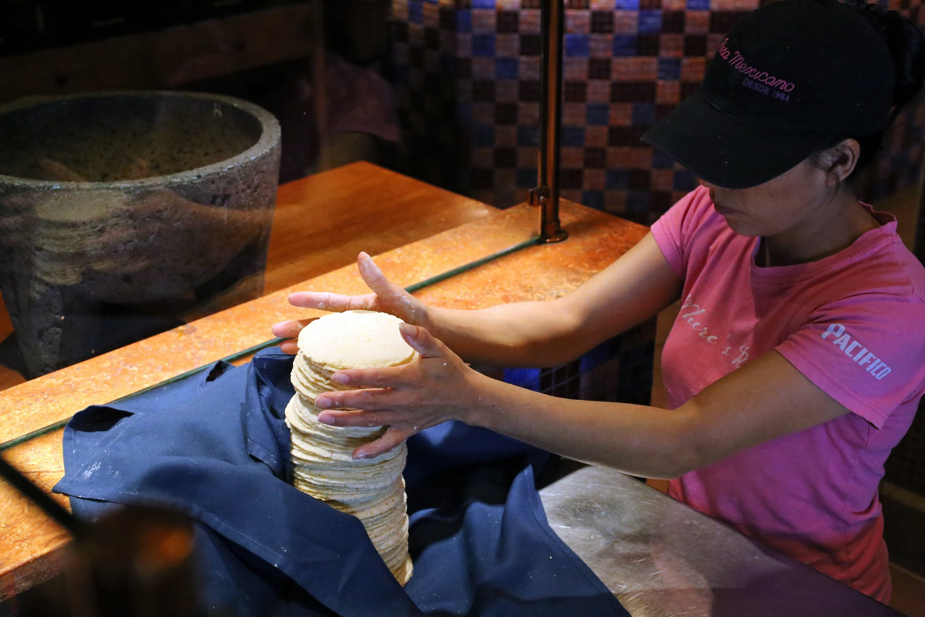 tortillas being made by hand