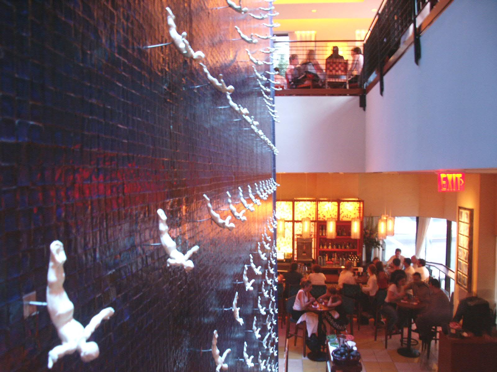a wall installation at Rosa Mexicano in Lincoln Center, NY