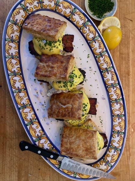 Buttermilk Biscuit Eggs Benedict