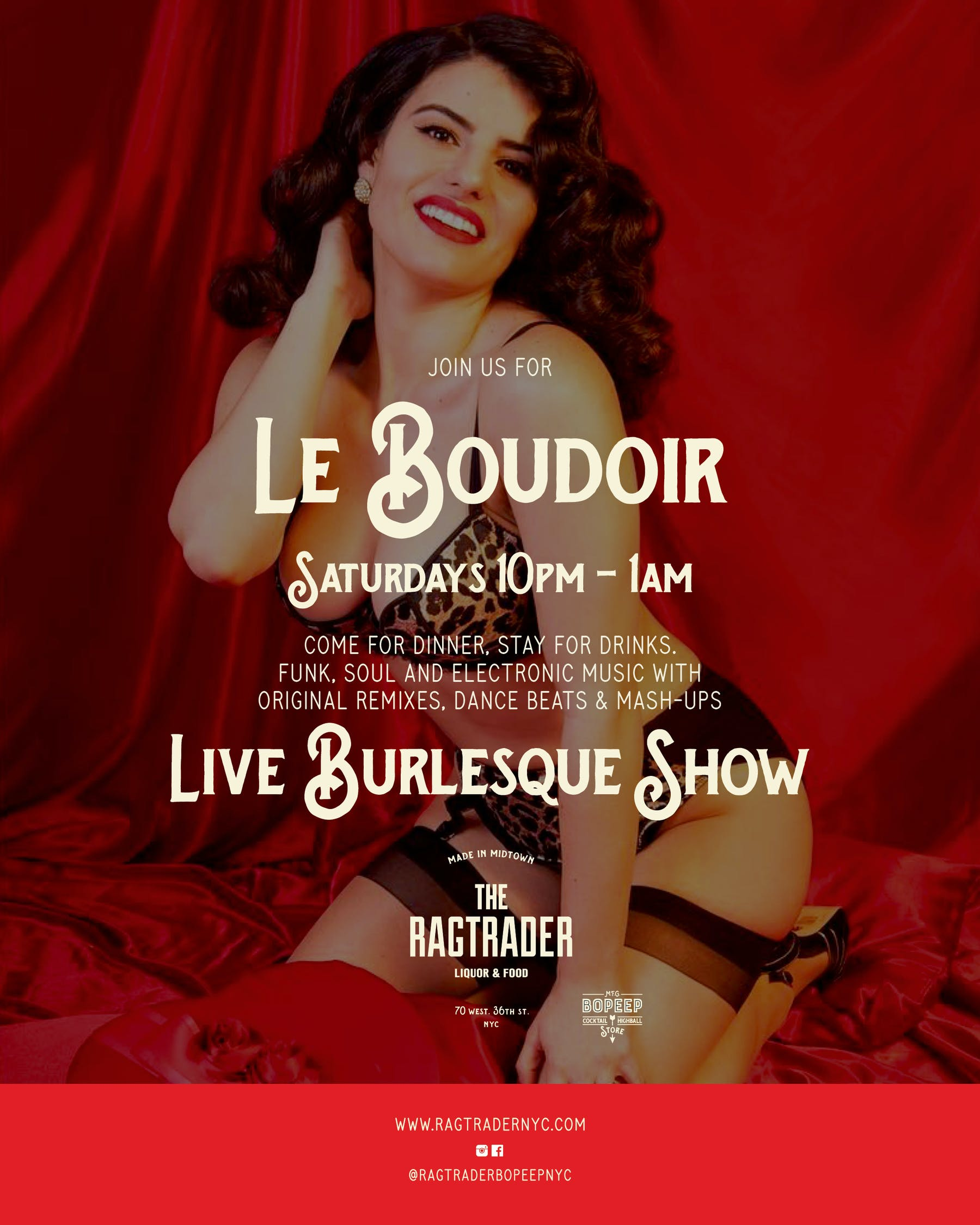Le Boudoir Red Background