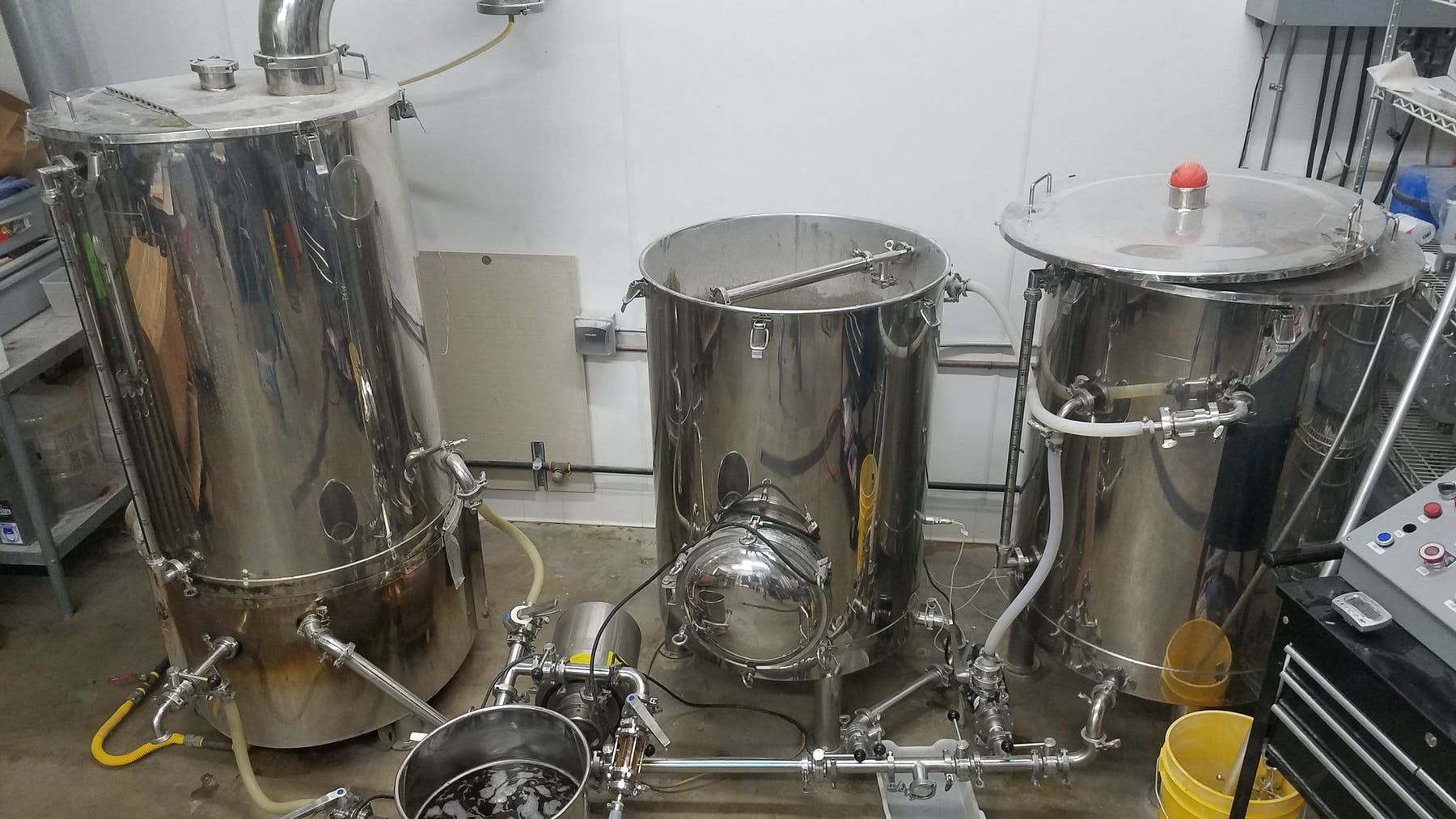 3bbl brewhouse used to open The Valley's Brewery