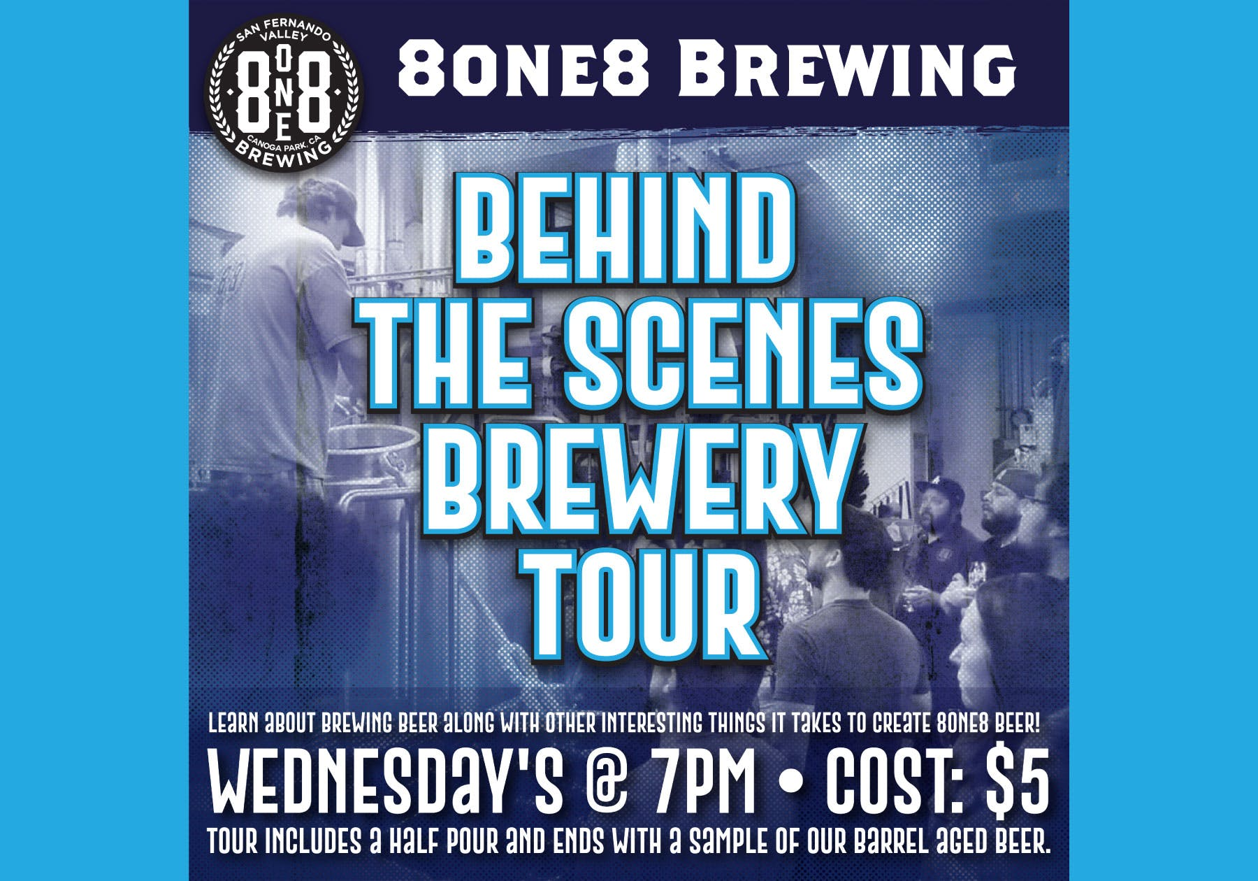 818 brewery tour flyer