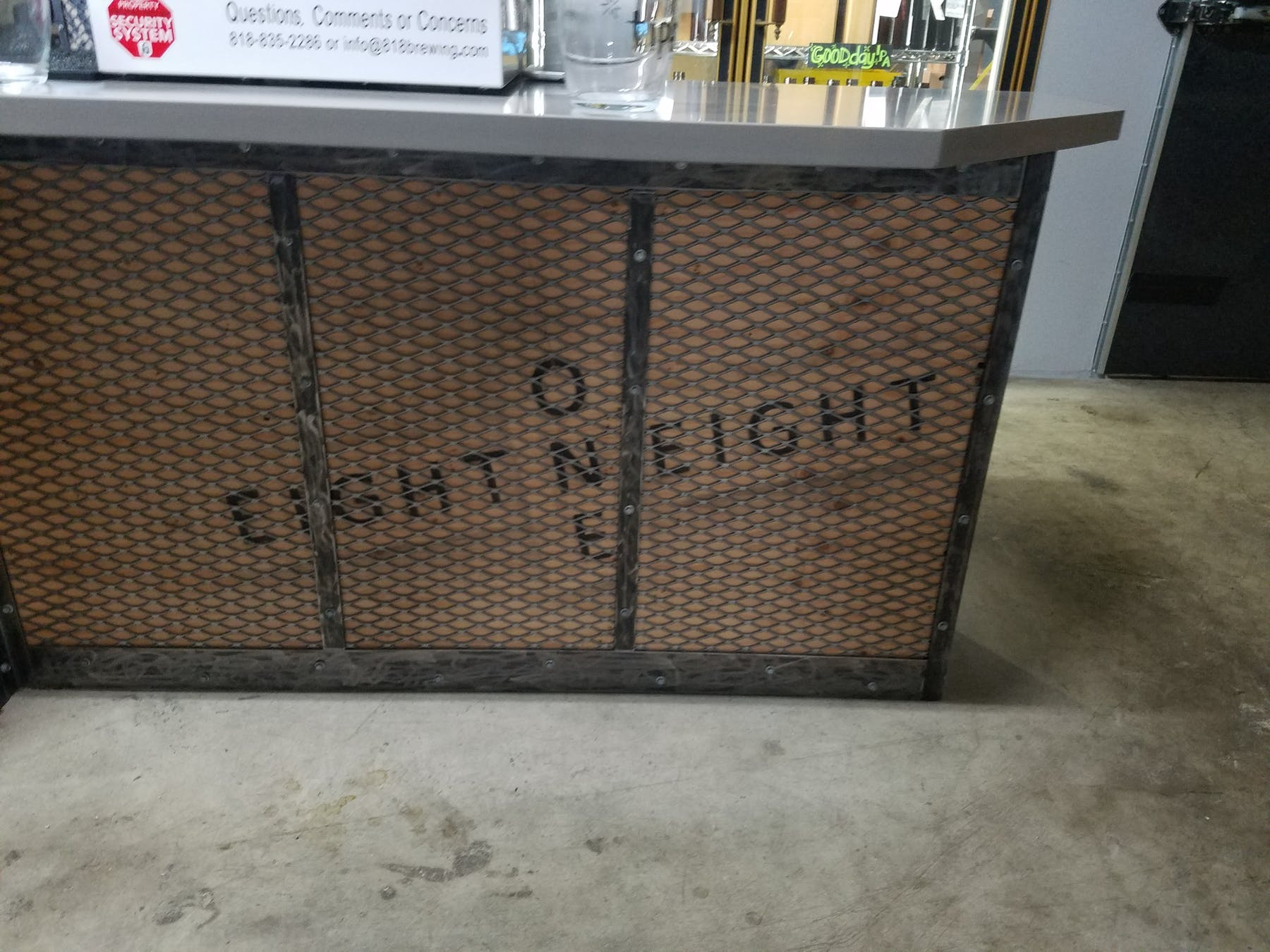 eight one eight bar front