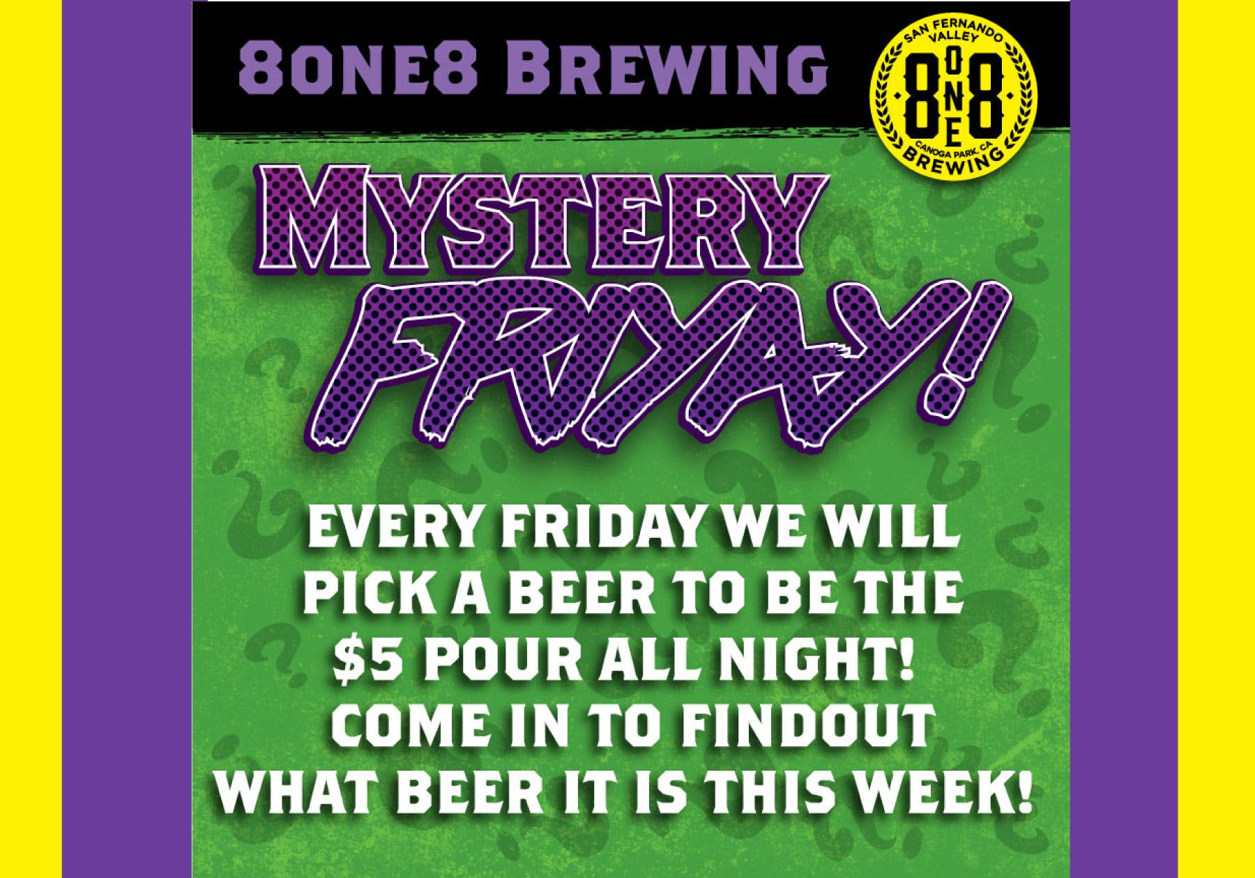 $5 beer special friday