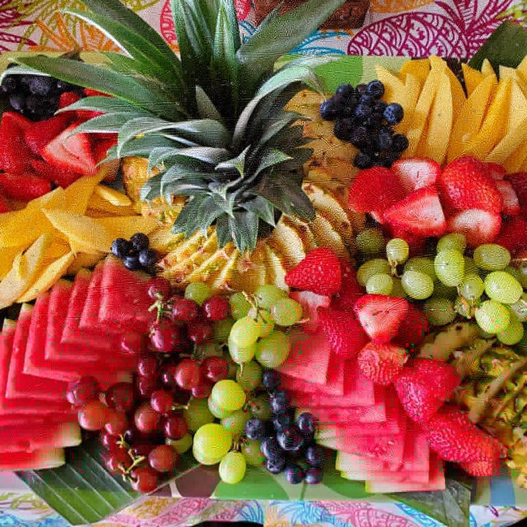 a group of colorful fruit and vegetables