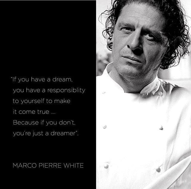 Marco Pierre White in a suit and tie
