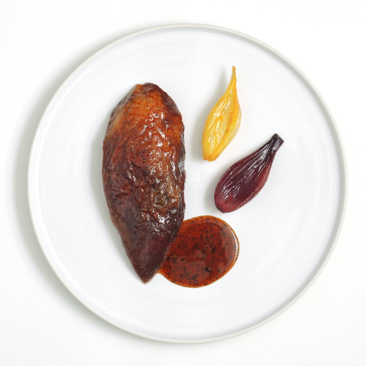 a piece of food on a plate