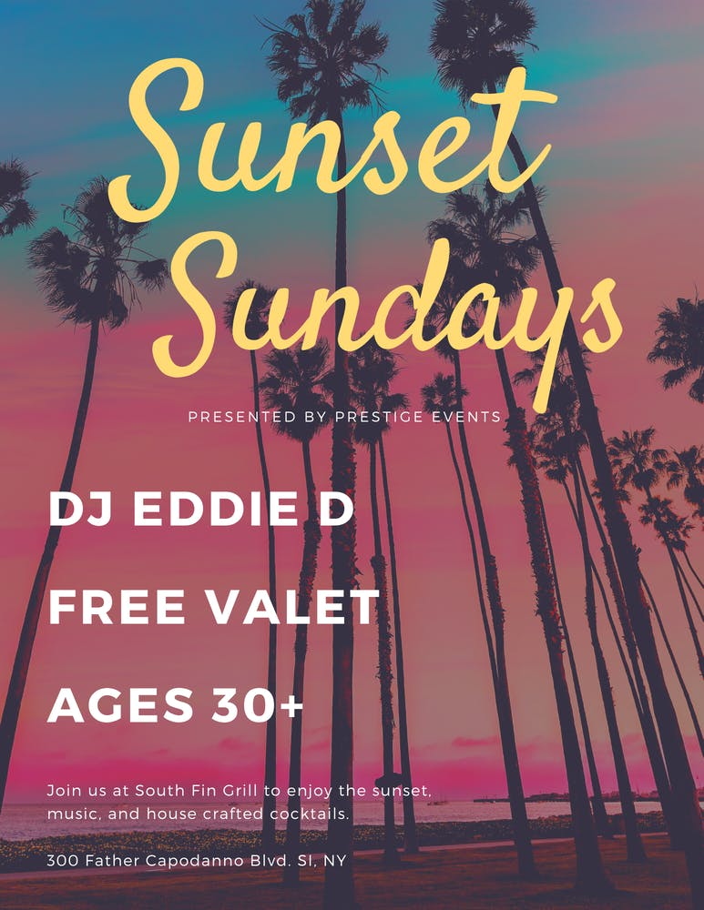 Sunset Sundays Party at South Fin Grill