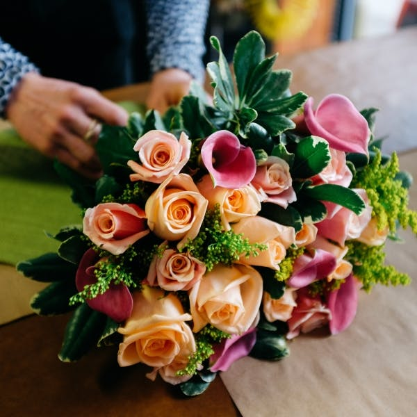 several flowers on a table