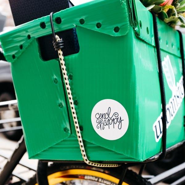 a green basket