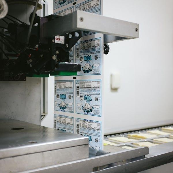 a machine processing food