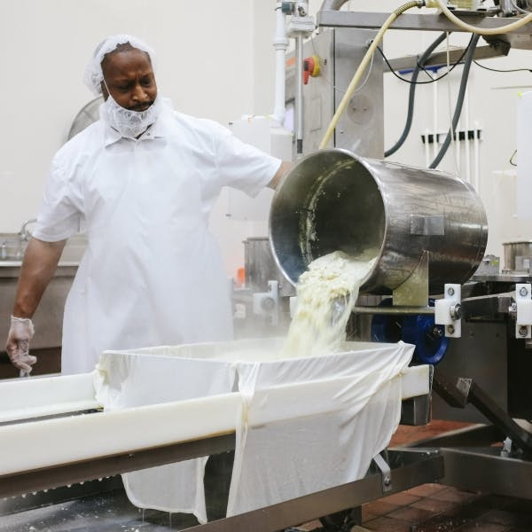 a person working in a kitchen