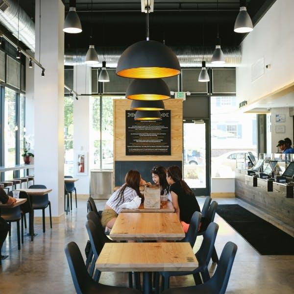 a restaurant's dining room