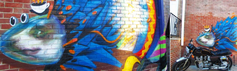 colorful graffiti on the side of a building