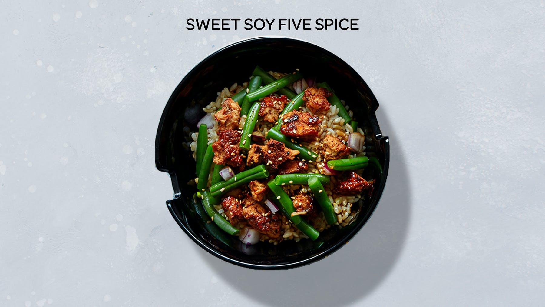 a bowl of sweet soy five spice stir-fry