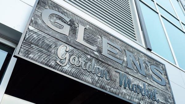 a sign on a building facade