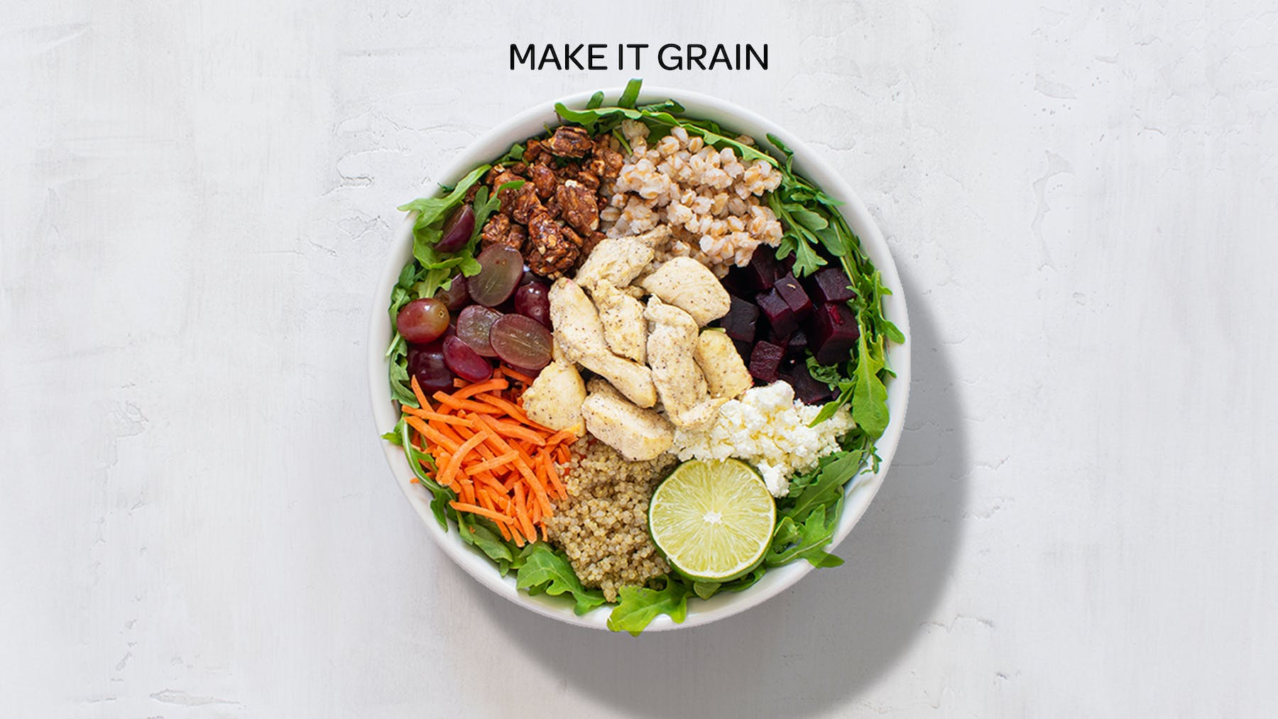 a bowl of make it grain salad