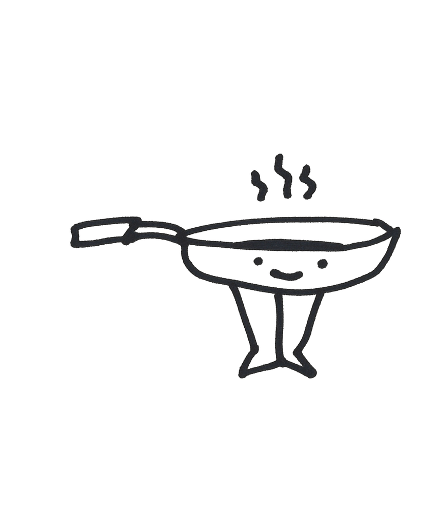 drawing of a cooking pan