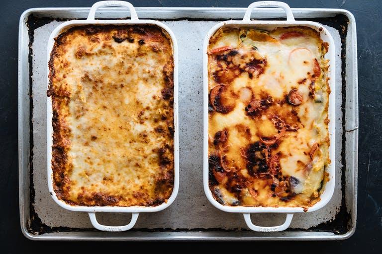 pans of lasagna