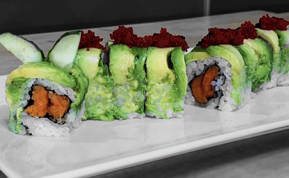 sushi on a table