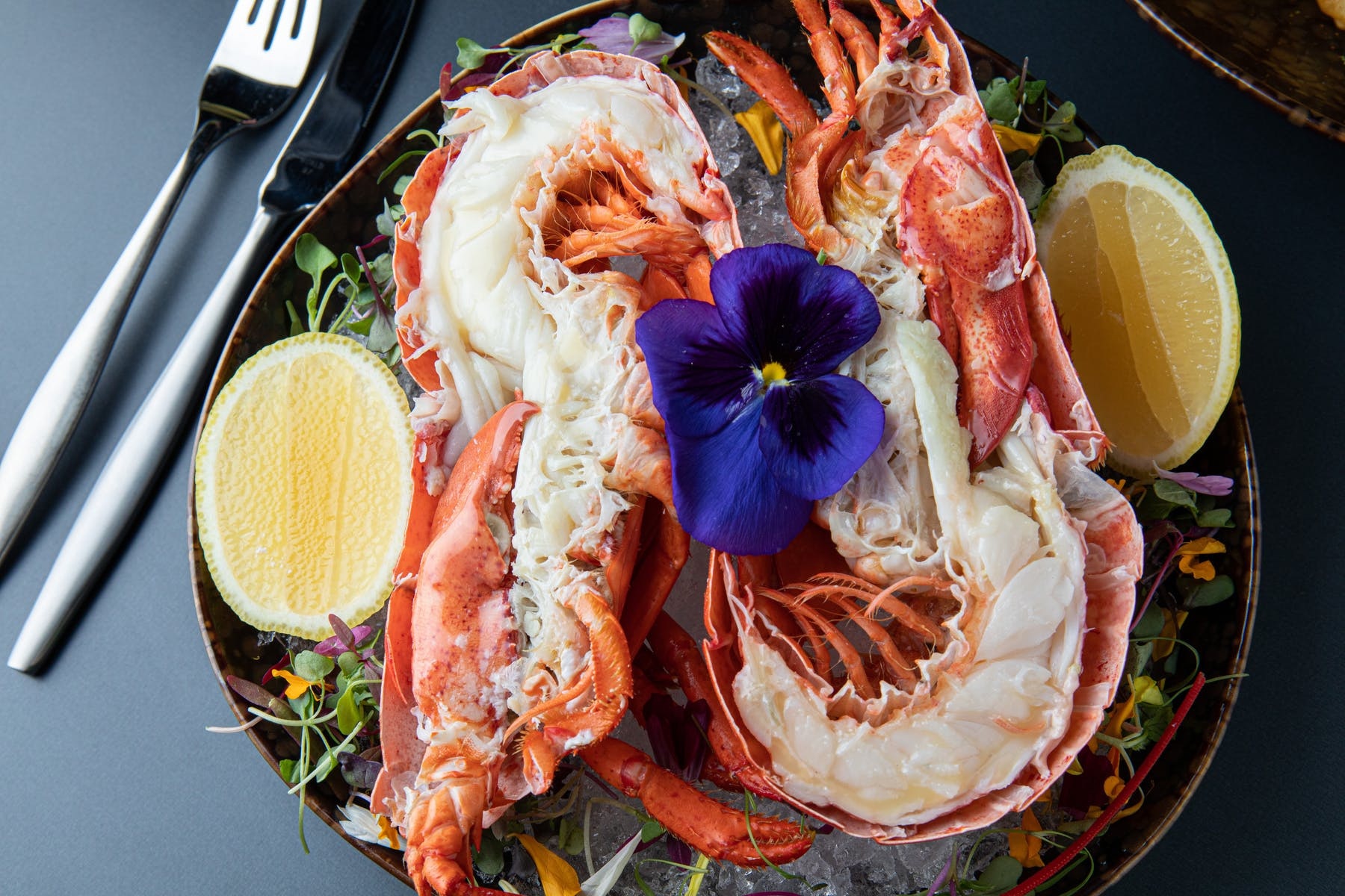 a plate filled with seafood