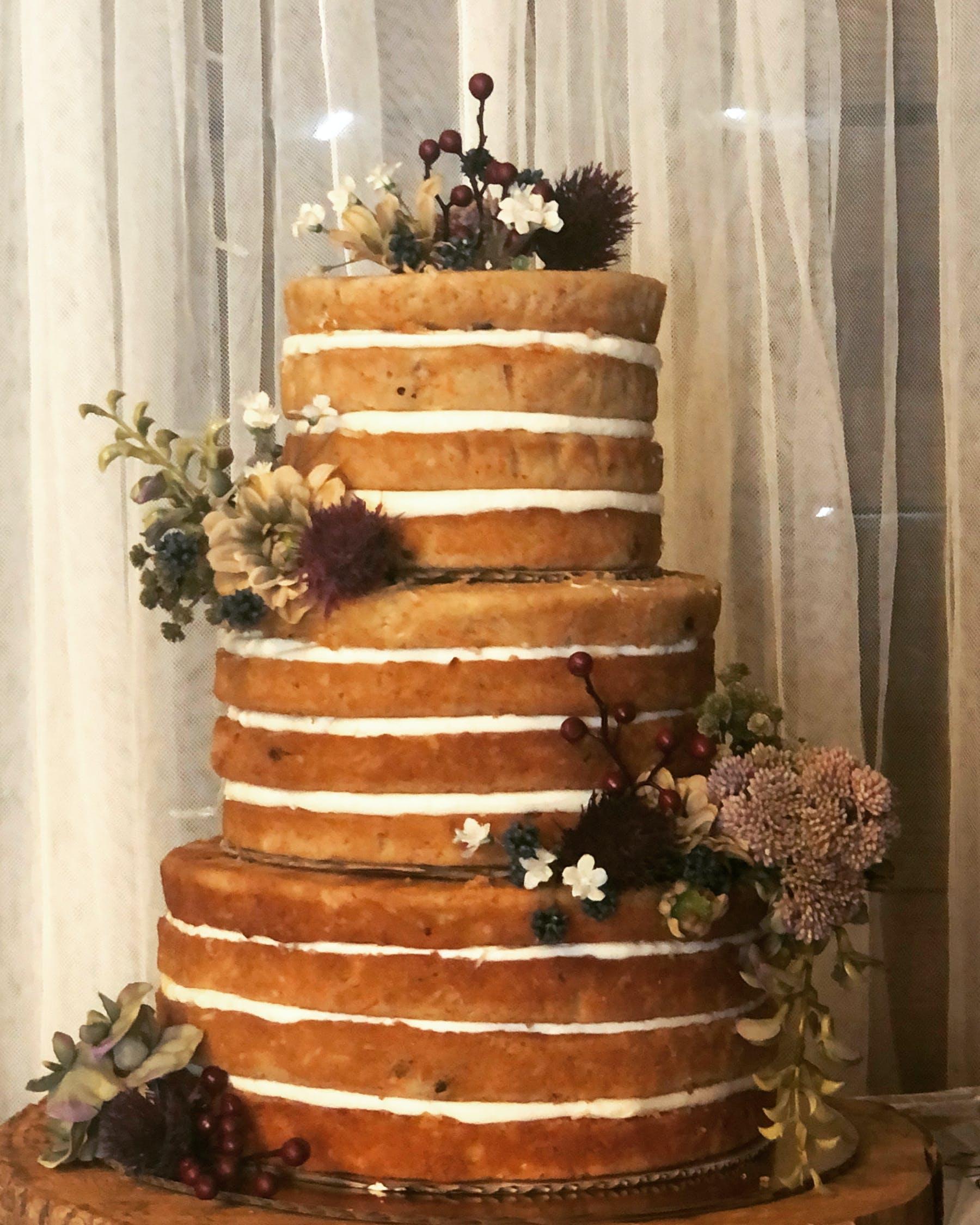 a cake made to look like a flower