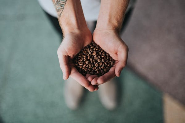 a hand holding coffee