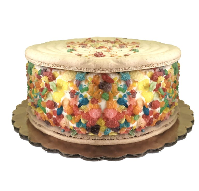a slice of cake sitting on top of a table