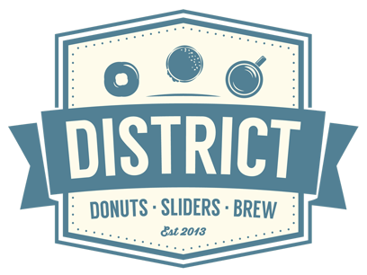District Donuts. Sliders. Brew. Home