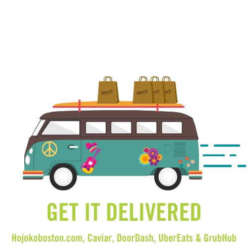 get it delivered. picture of delivery vehicle.