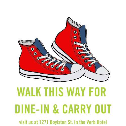 Dine in and carry out. picture of sneakers